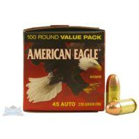 AMERICAN EAGLE 45 AUTO/ACP 230GR FMJ AMMUNITION, 500 PACK
