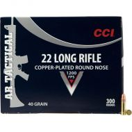 CCI AR Tactical .22 Long Rifle Ammunition 3.00 Rounds 40 Grain Copper Plated Lead Round Nose 1200fps