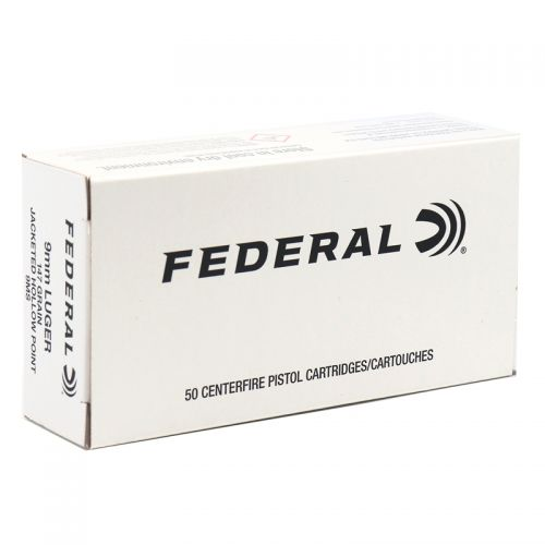 Federal Law Enforcement 9mm Luger Subsonic Ammo 147 Grain Hi-Shok JHP